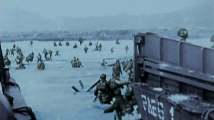 WWII D-Day Invasion of Normandy Combat Footage (In Color